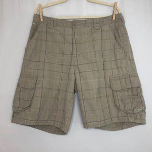 O'Neill Tan Plaid Shorts Men's Size 33